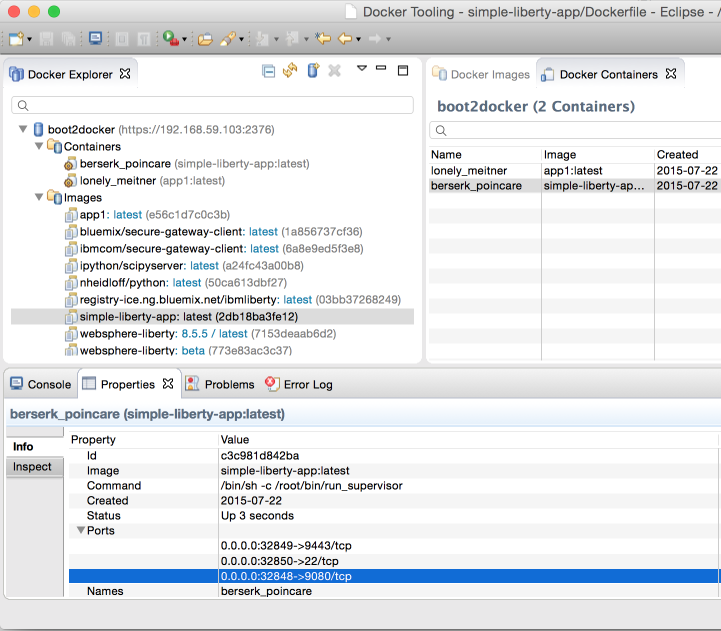 Docker Tooling in Eclipse to build Liberty based Images for Bluemix