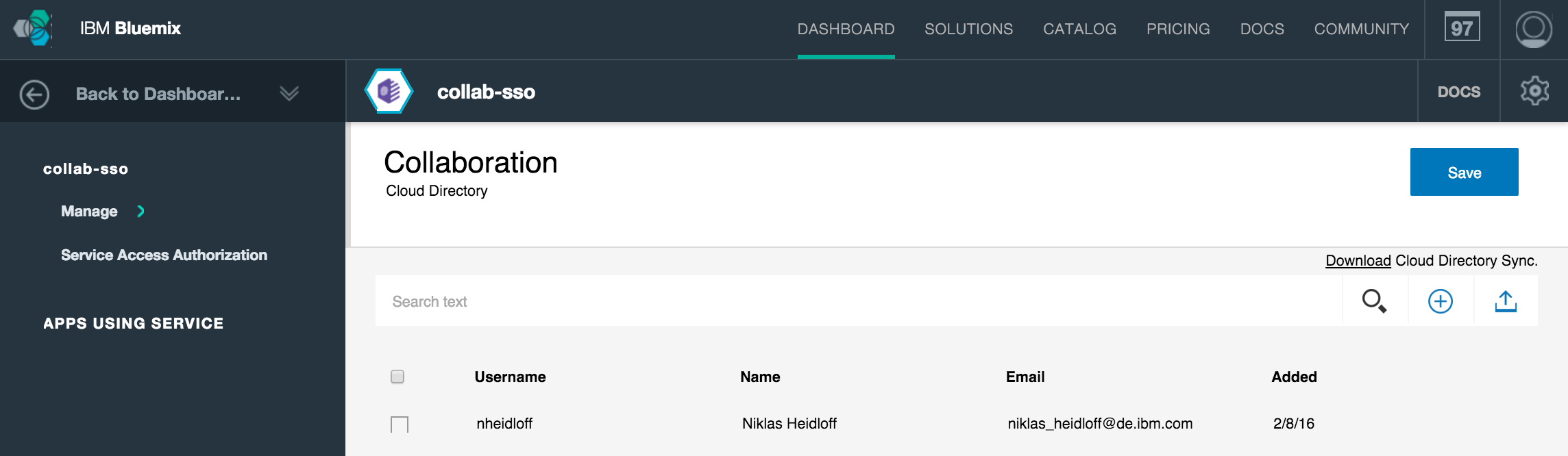 Authentication in Node.js Applications on Bluemix