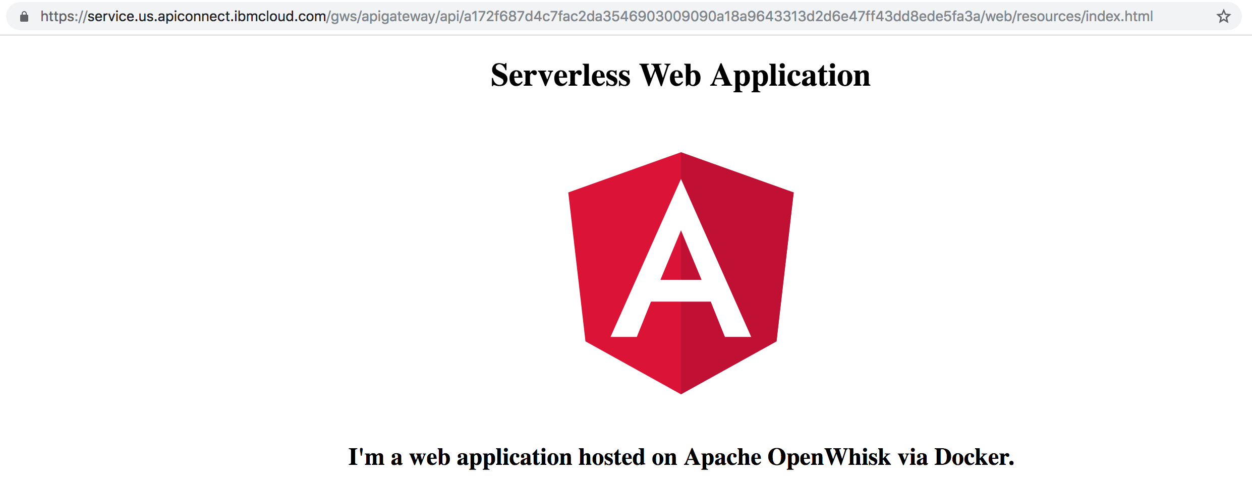 Hosting Static Web Application Resources on OpenWhisk