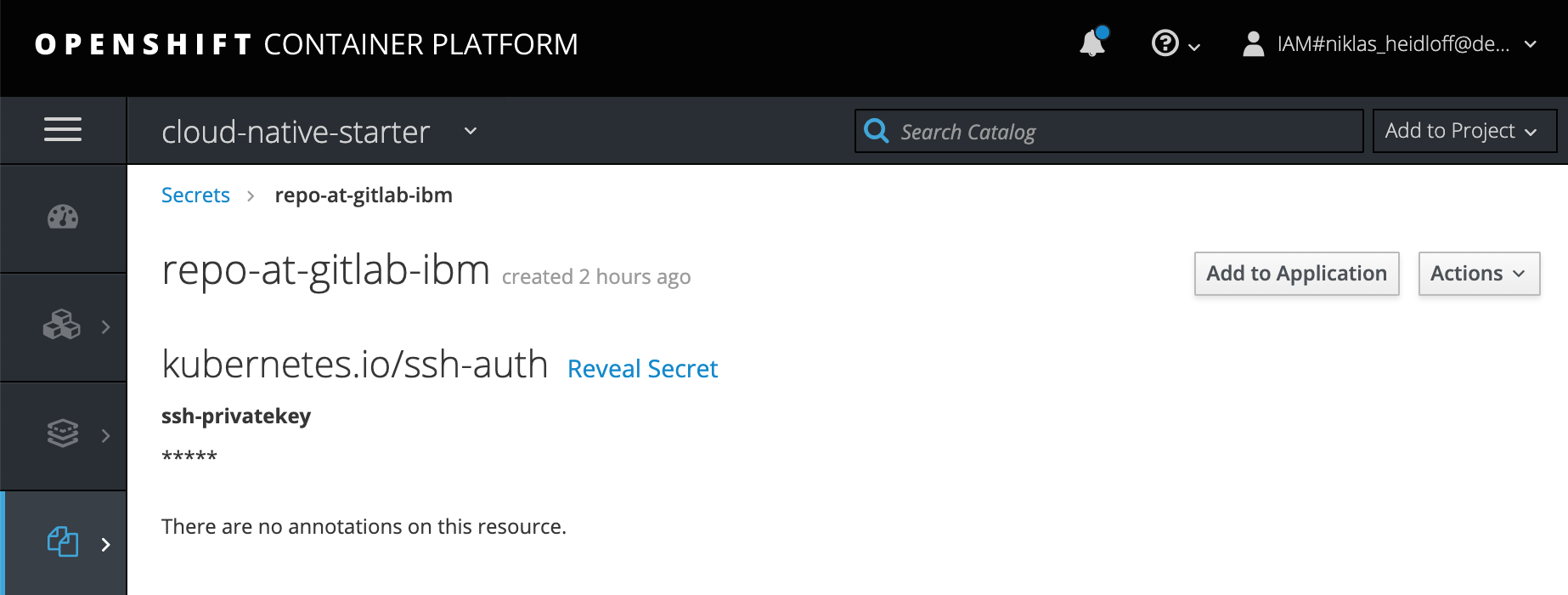 Accessing private GitLab Repositories from OpenShift